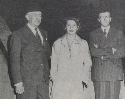 "The Echo, 05.1950, Friends visit Ecusta, ""Mr. and Mrs. Michel Bollore and Mr. Jacques Thube  of Papeteries Bollore"""