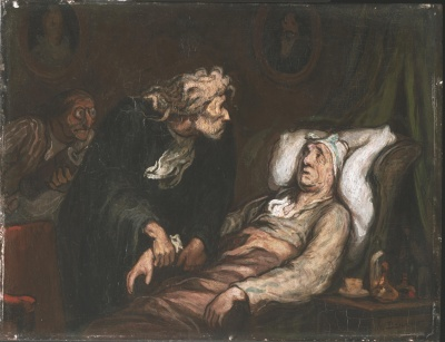 "Honoré Daumier, ""le malade imaginaire"", Philadelphia Museum of Art"