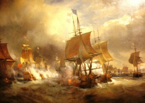 Combat d'Ouessant, 1778, Theodore Gudin